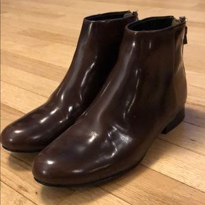 Theory leather boots
